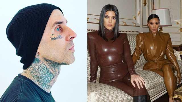 Travis Baerker Kourtney Kardashian Kim Kardashian