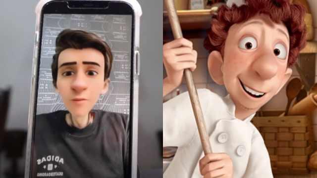 Filtro de Pixar en Snapchat