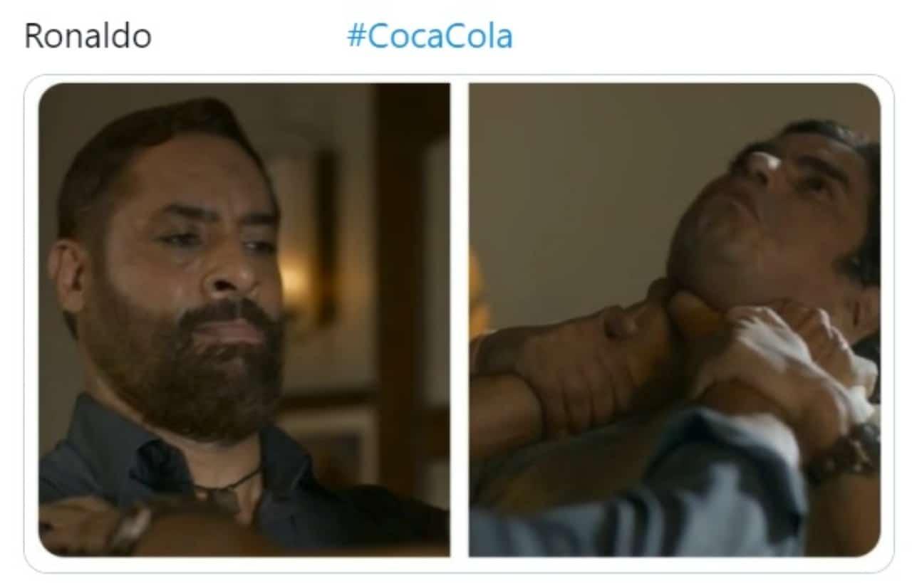 Meme cristiano ronaldo vs coca cola