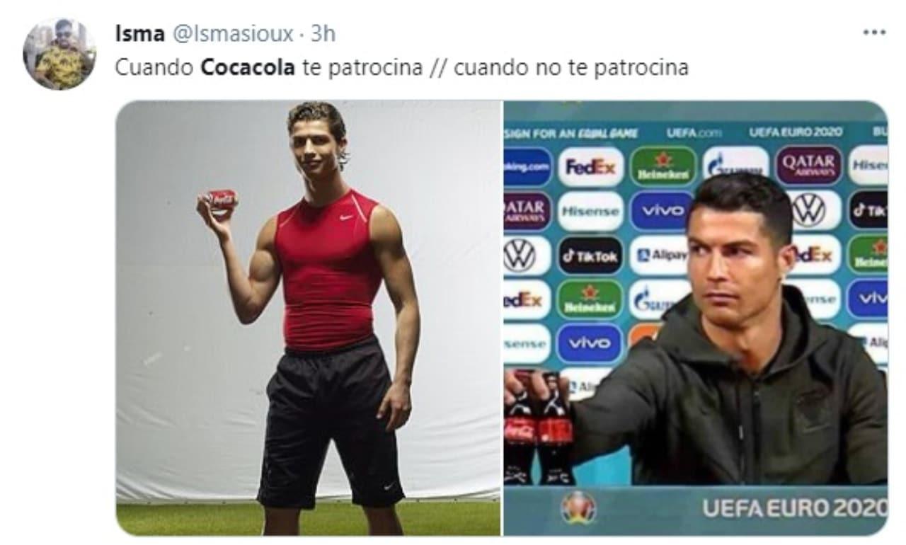Cristiano Ronaldo patrocinado por Coca Cola