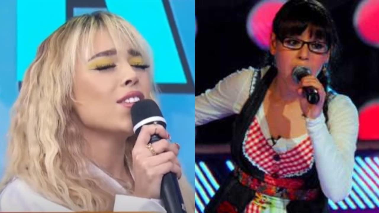 Danna Paola cantando Mundo de Caramelo