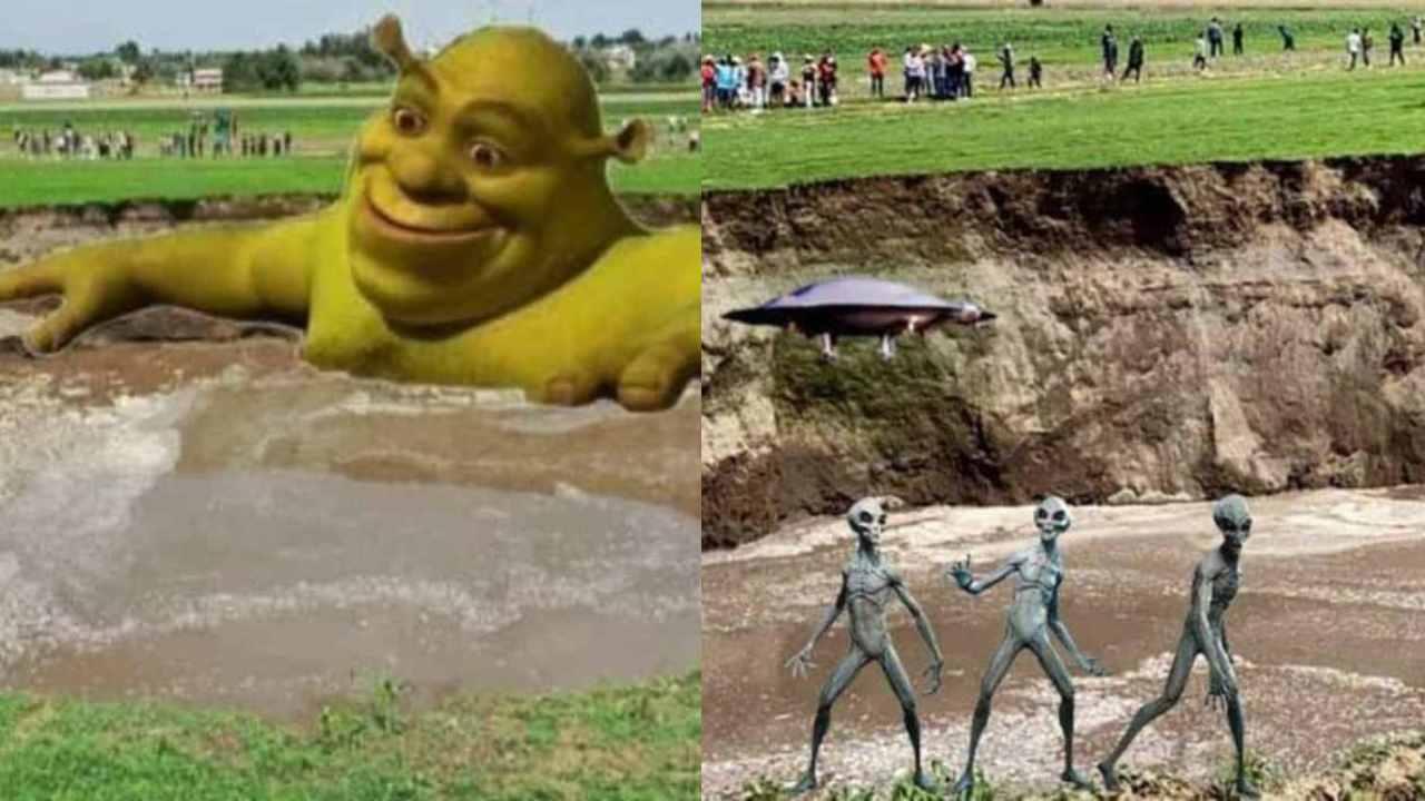 Memes del socavón de Puebla que parece una alberca