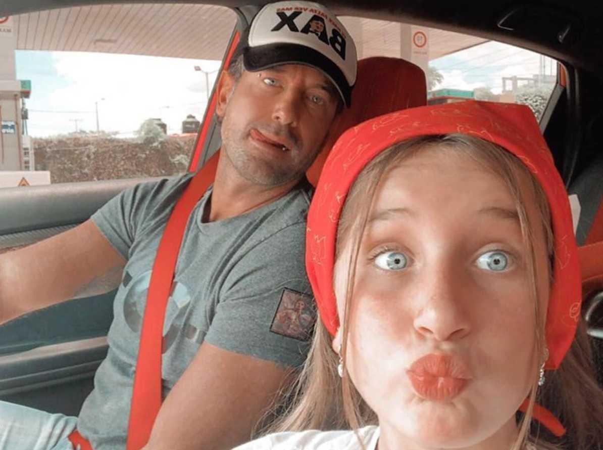 Gabriel Soto con su hija Elissa Marie