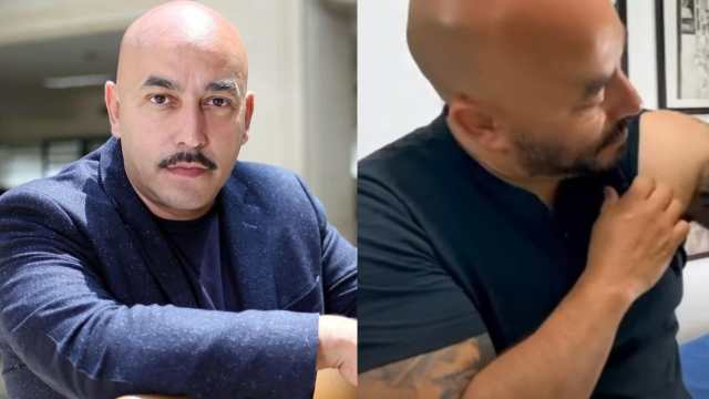Lupillo Rivera muestra resultado tatuaje Belinda