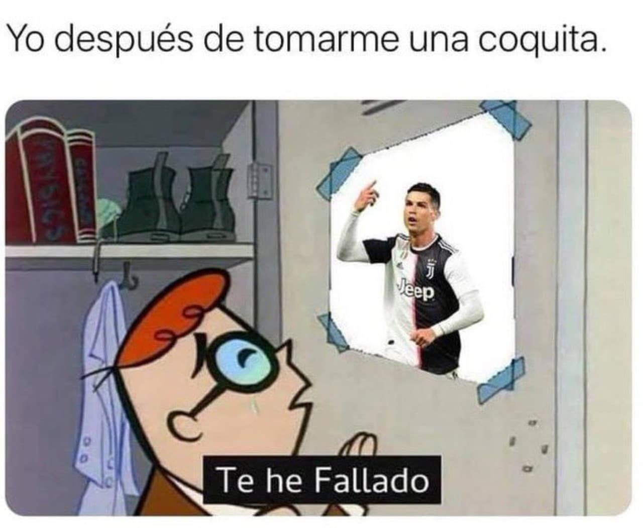 Meme Te he fallado Cristiano Ronaldo