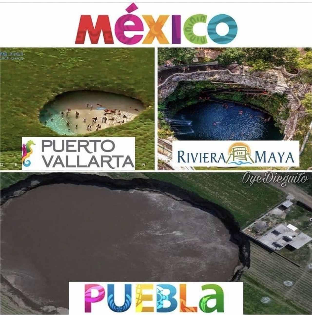 Visit Puebla, el socavón chido