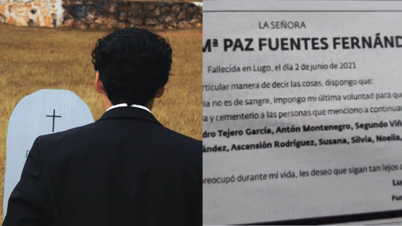 Mujer hace invitacion funeral no invita familia