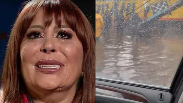 Alejandra Guzman queda atrapada en carro