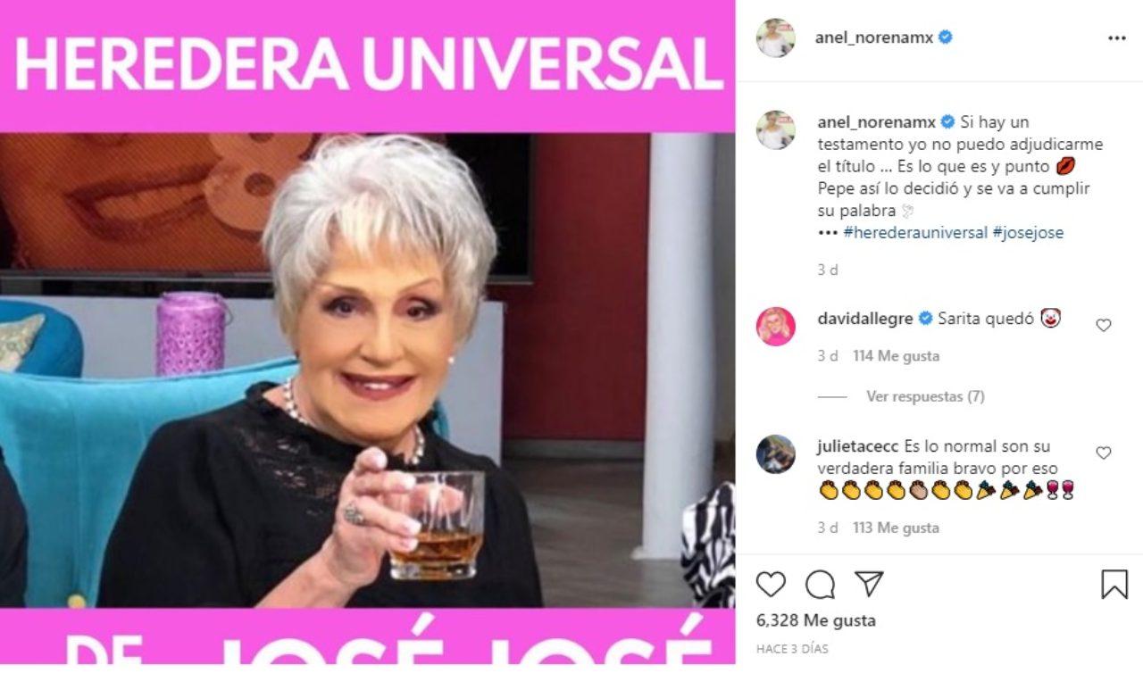 Anel Norena dice ser heredera universal
