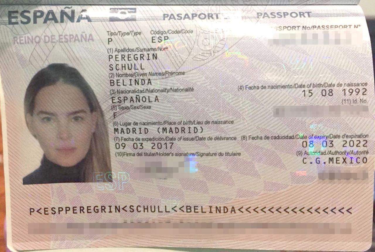 Pasaporte Belinda revela su edad real