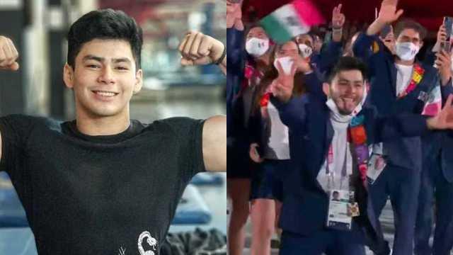 Critican a atleta mexicano que se quitó el cubrebocas en plena inauguración de Tokyo 2020