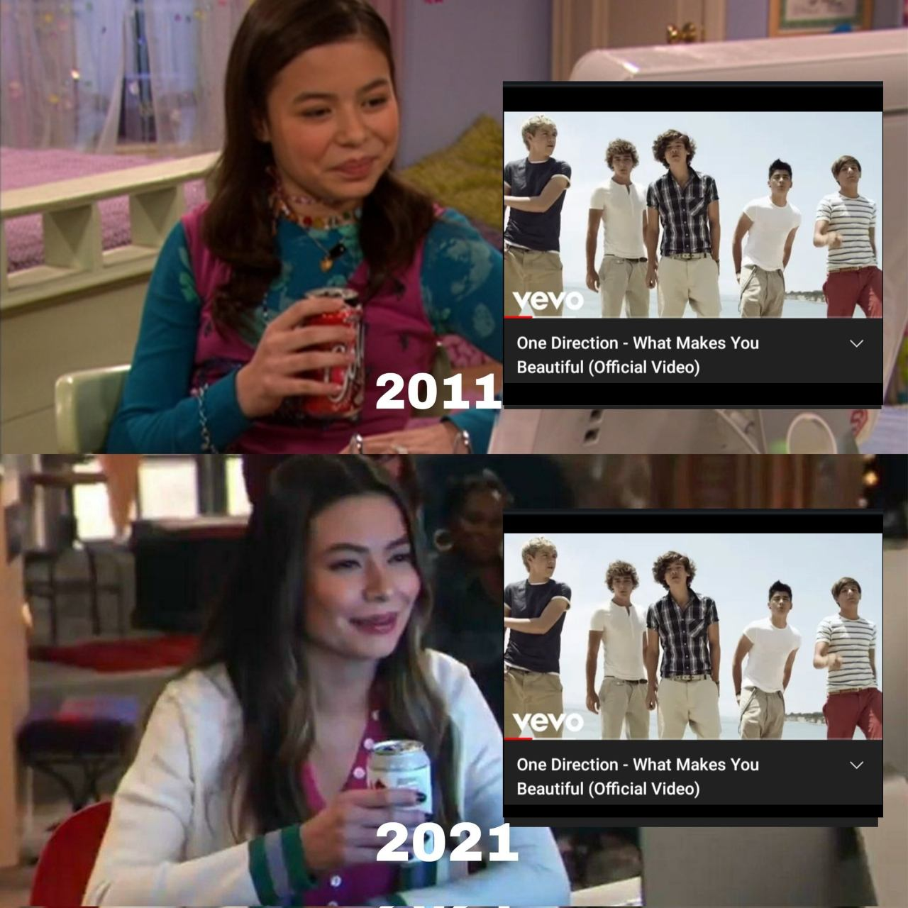 meme icarly anos one direction