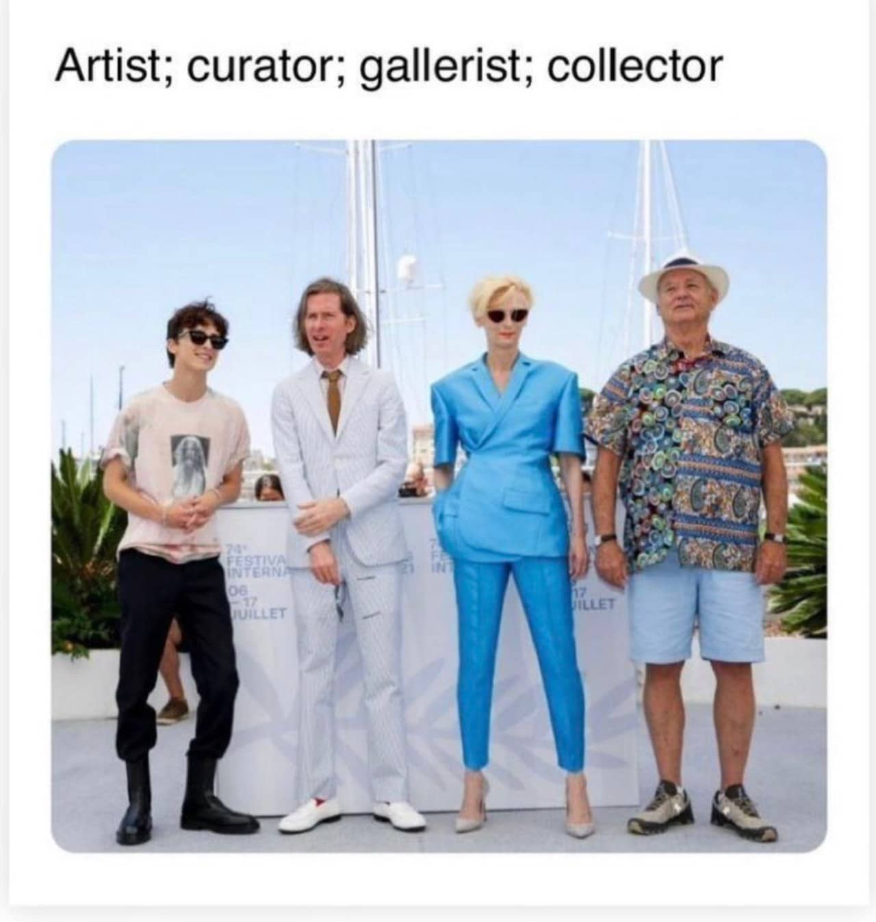 Timothee chalamet tilda swinton memes cannes 2021