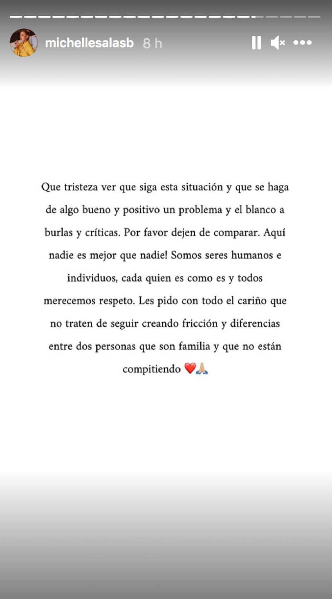 Michelle Salas responde a comparaciones con Frida Sofía