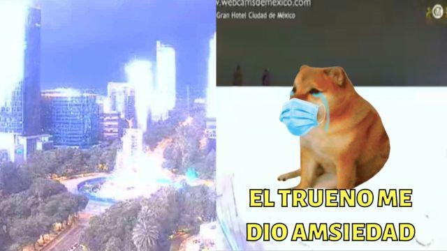Memes del trueno en la CDMX