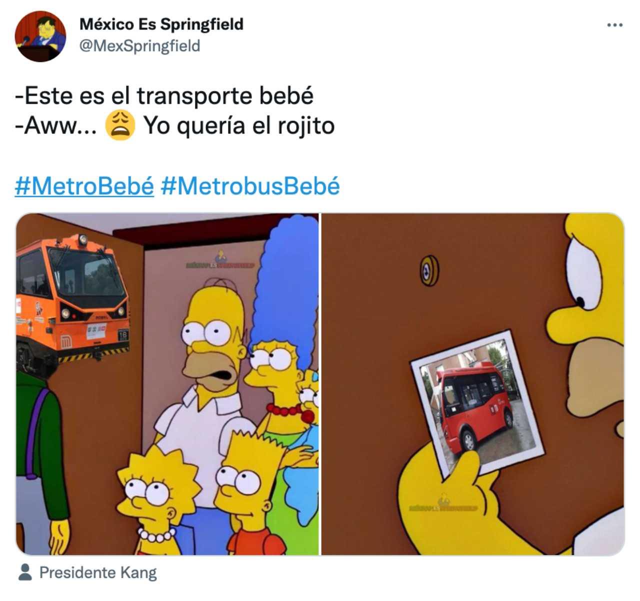Meme del Metrobusito bebé con Los Simpson