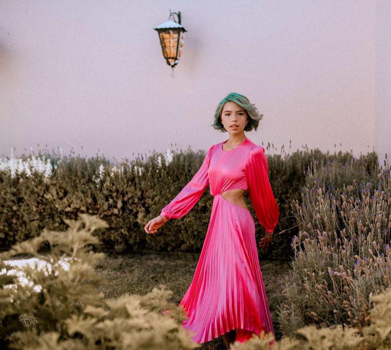 menor dinastia aguilar vestido rosa mexicano