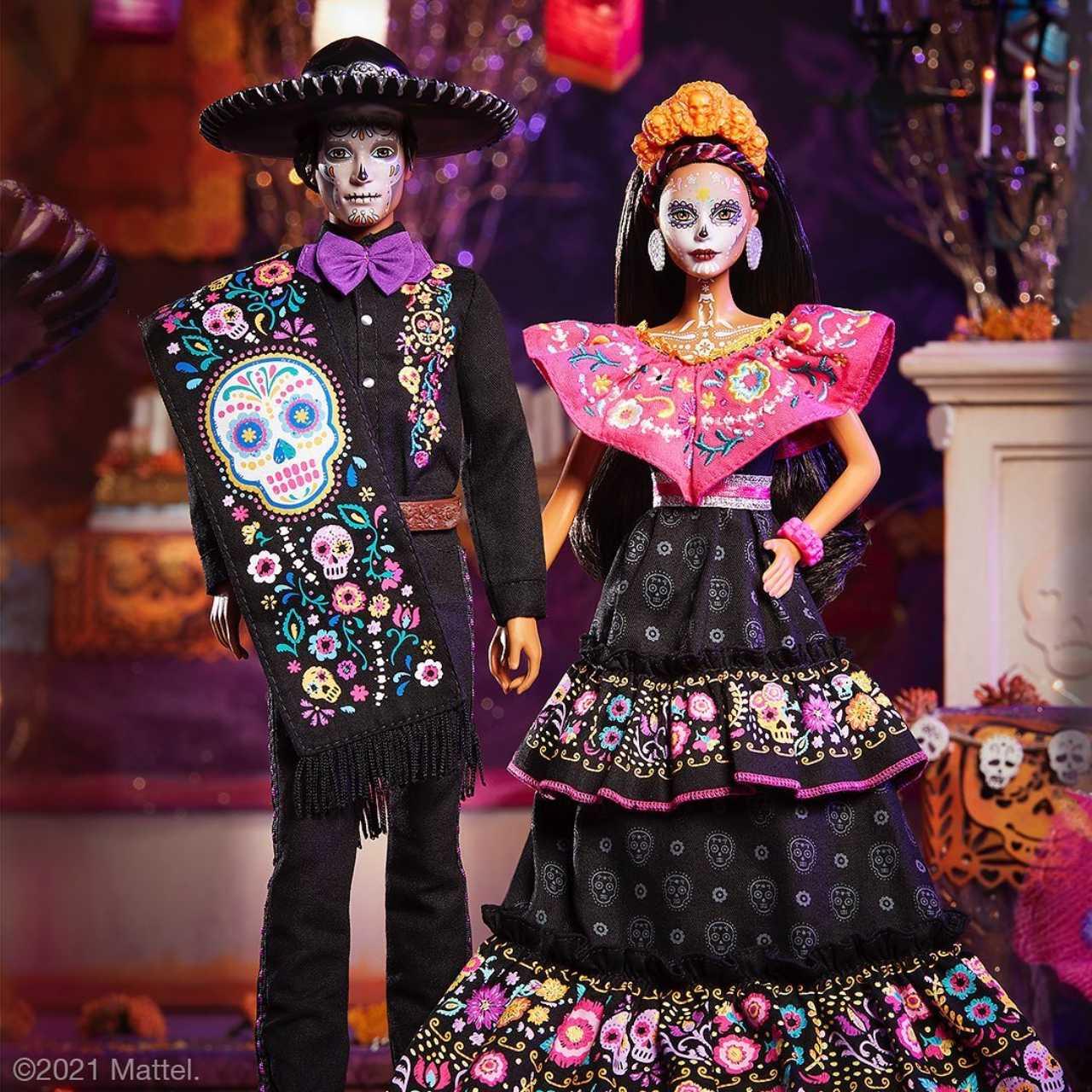 ken actrin barbie dia de muertos