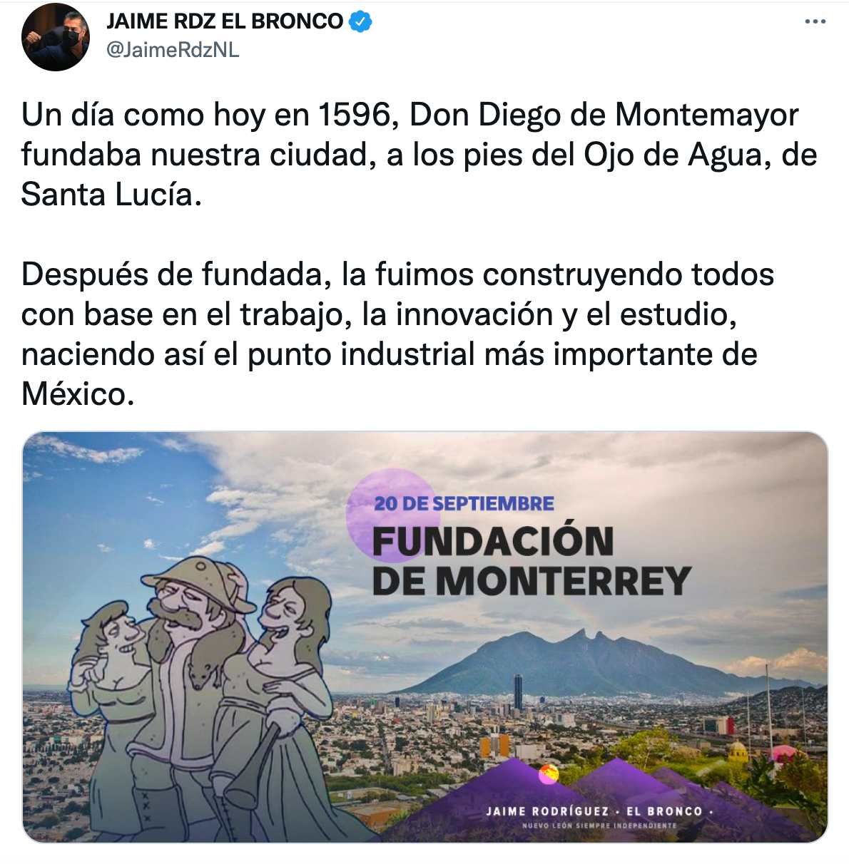 Bronco celebra fundación Monterrey con imagen de Shelbyville