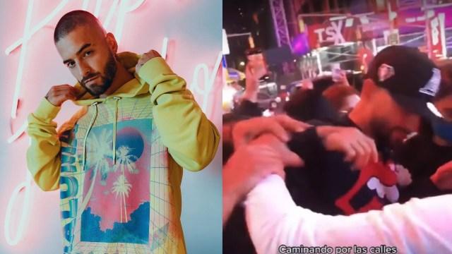 Maluma golpea fan Nueva York criticas