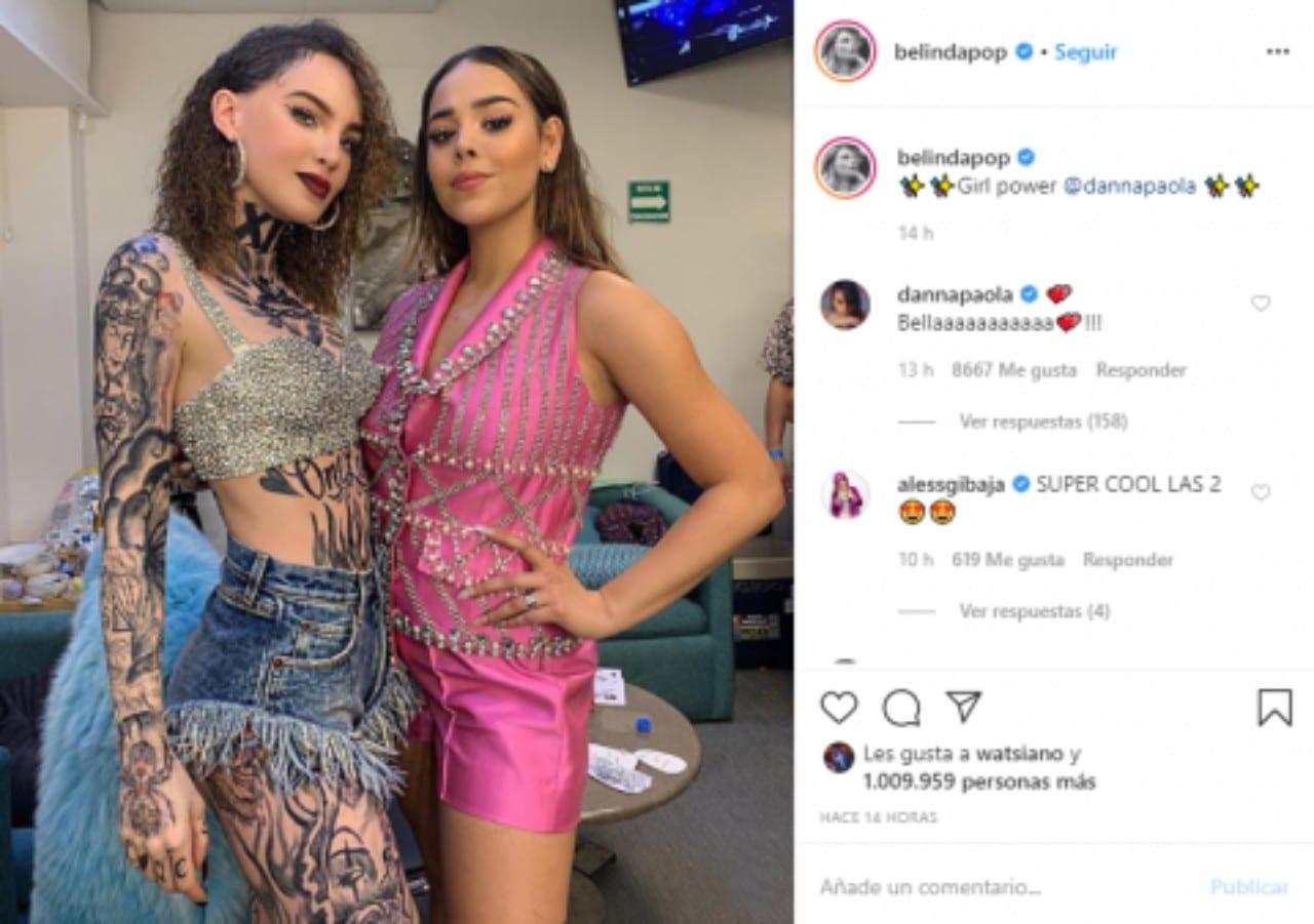 Danna Paola Belinda foto juntas rivales