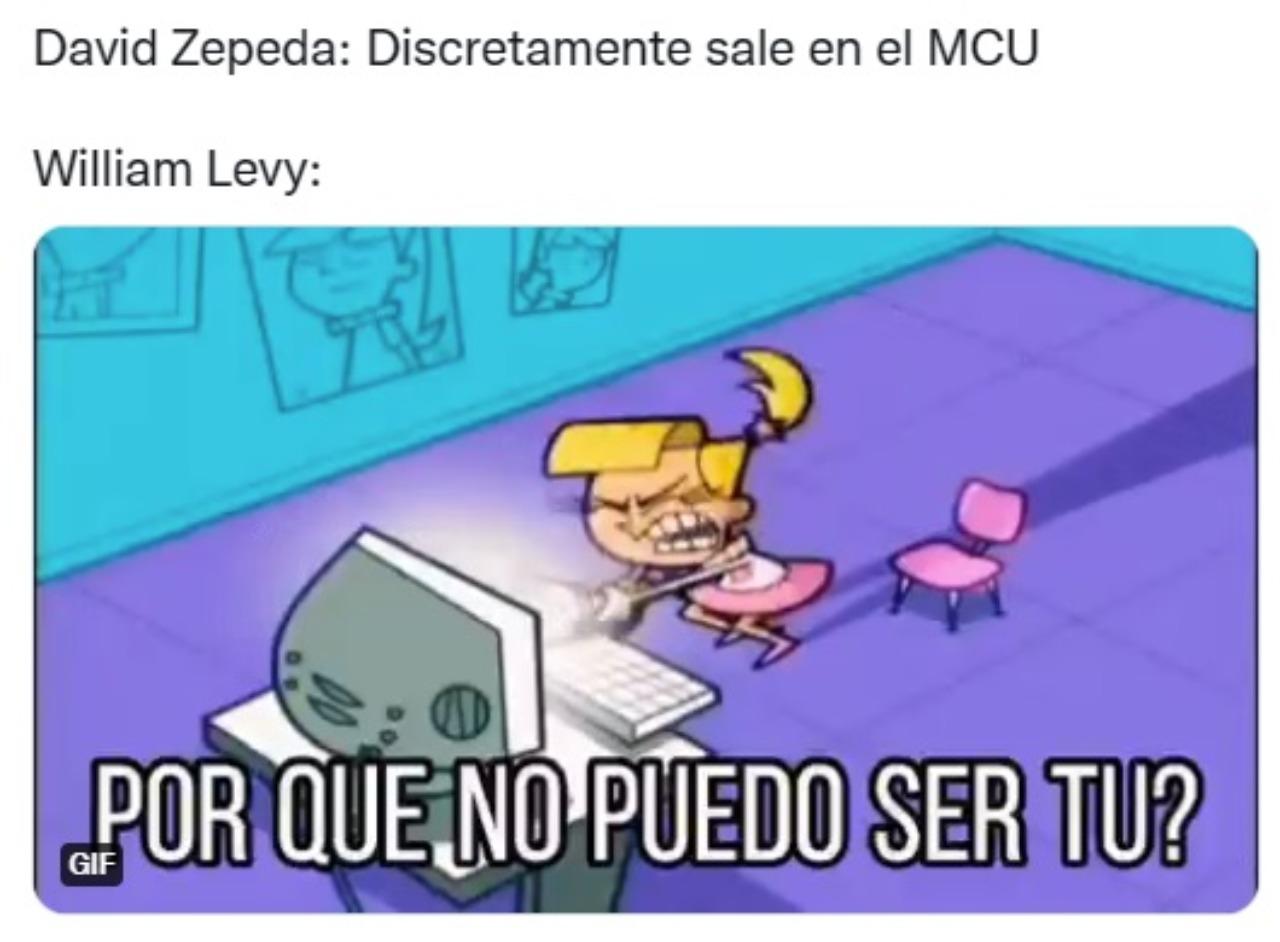 Meme William Levy David Zepeda MCU