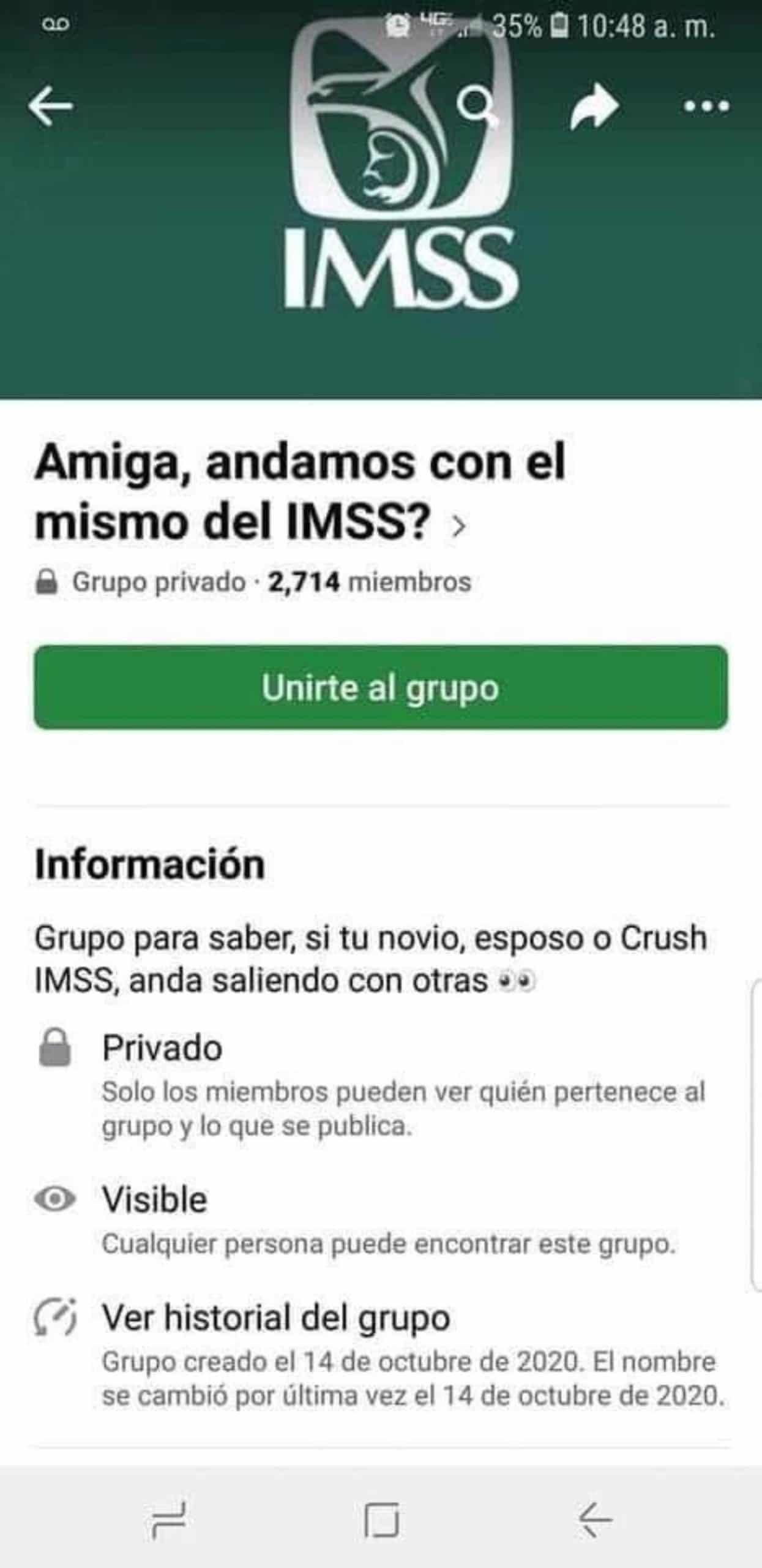 Grupo exponer infieles IMSS Facebook mujeres