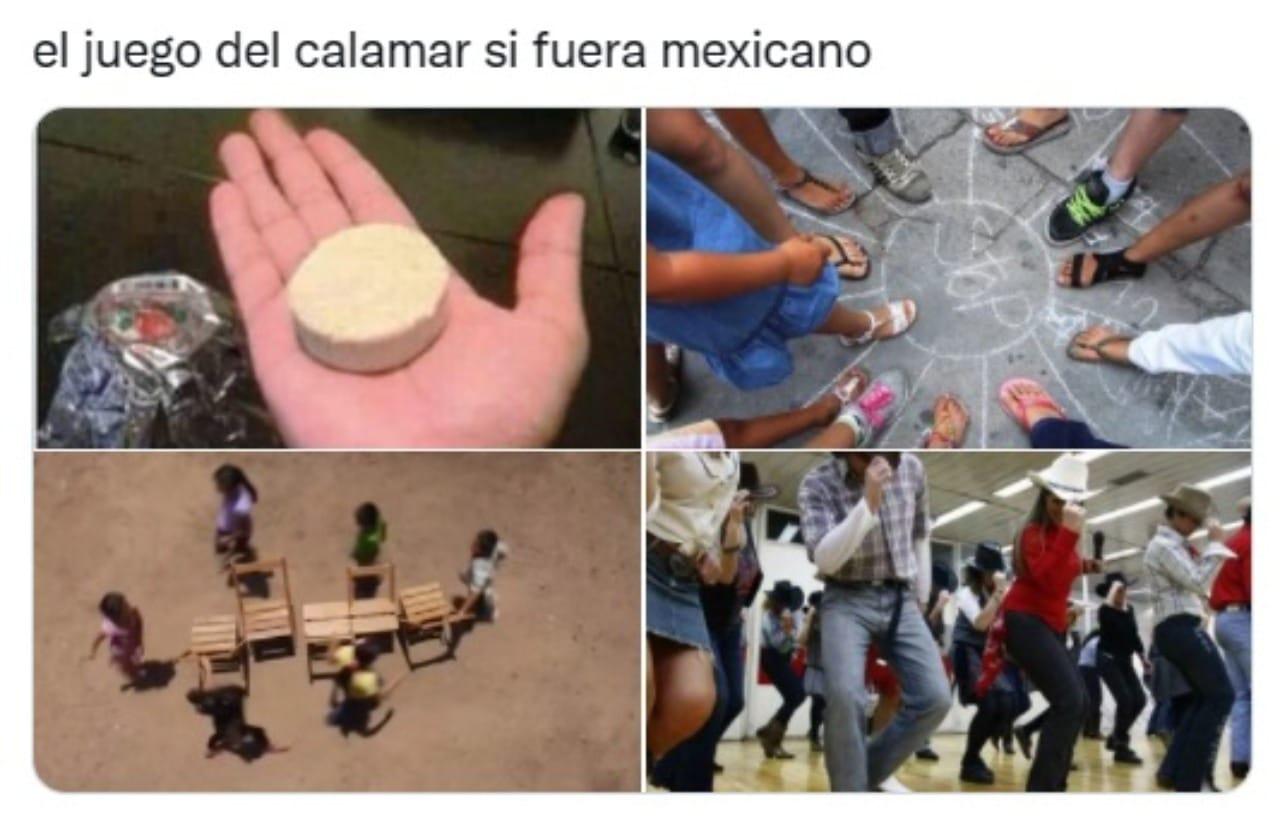 meme mexicano el juego del calamar