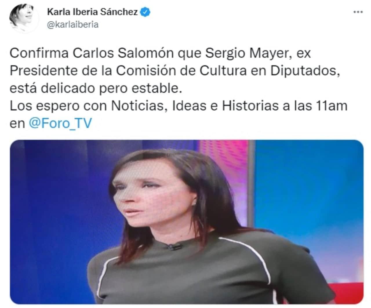 Reportan a Sergio Mayer hospitalizado delicado