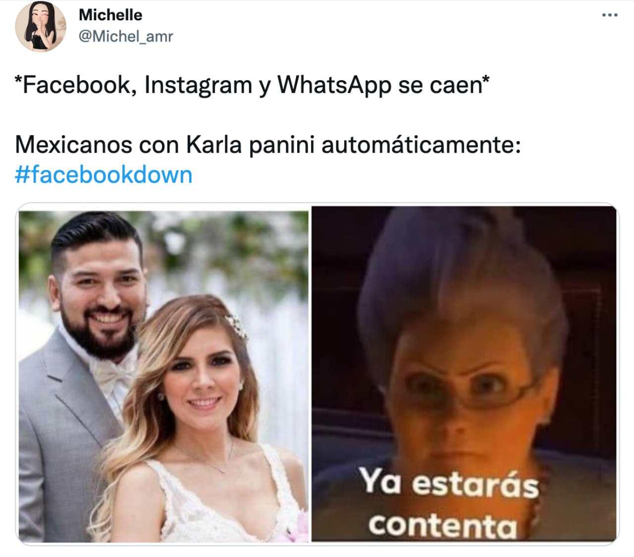 Culpan Karla Panini caida Facebook Instagram WhatsApp