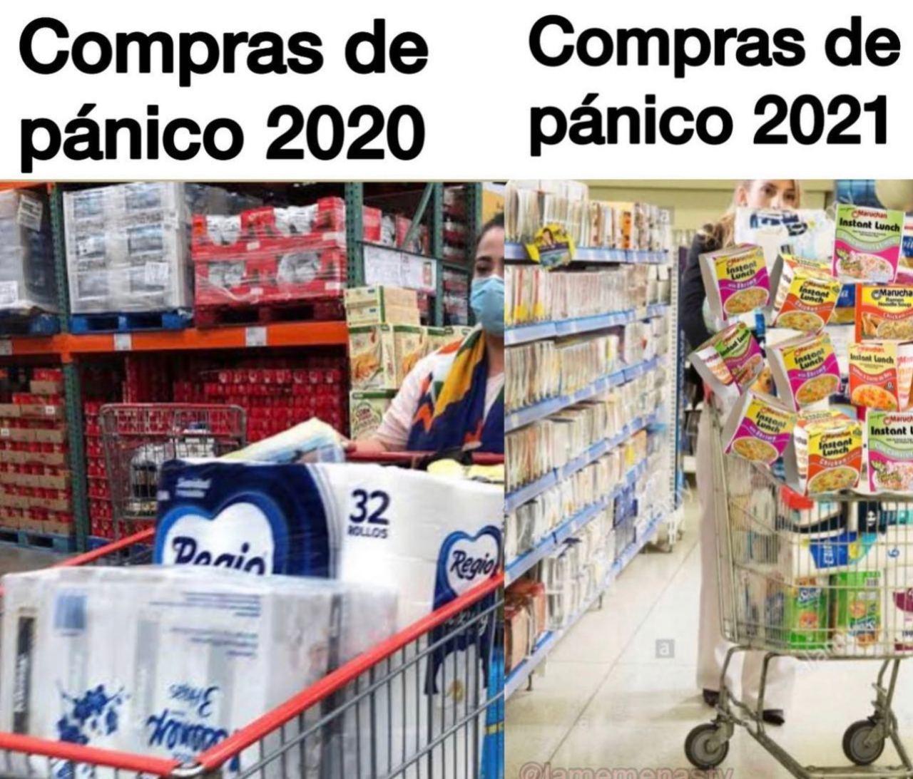 sopa instantánea compras pánico