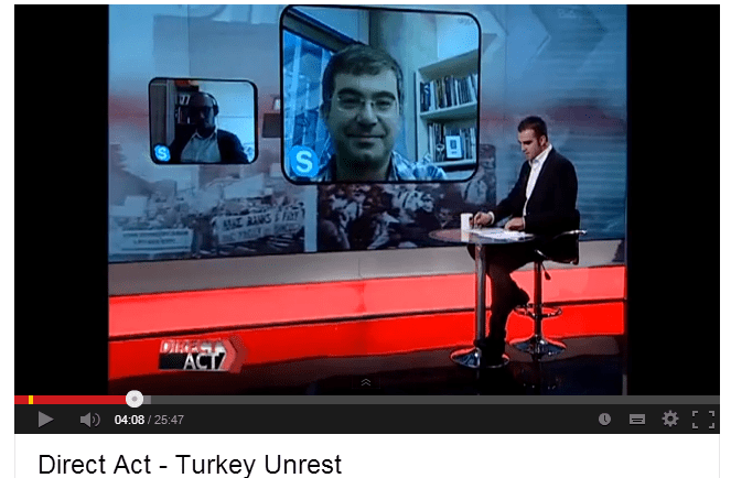 Direct Act   Turkey Unrest   YouTube Erkan Saka