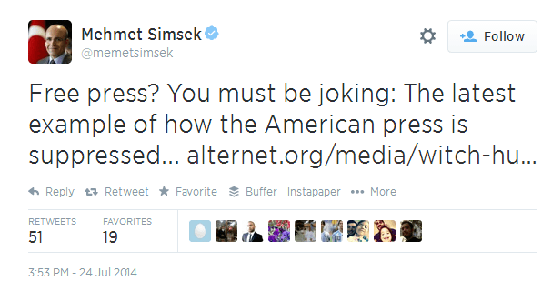 Twitter   memetsimsek  Free press  You must be joking  ...