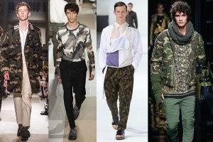 erkek kamuflaj asker deseni modası nasıl giyilir kombin