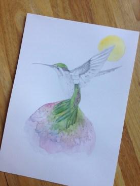Hummingbird based on a Beth Emily illustration