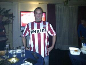 Oscar Bijnen, vlak voor vertrek naar Eindhoven.