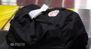 De tas van Zoet. Beeld: PSV TV