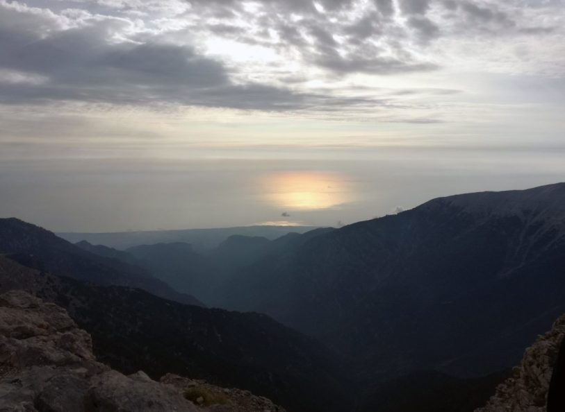Il mar Egeo dalla vetta di Skolio
