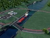 Der geplante Kanal durch die Frische Nehrung in Polen, Foto: Material prasowe MGMiŻŚ