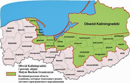 Diese Kreise nehmen am kleinen Grenzverkehr teil, Fot. Warmińsko-Mazurski Urząd Wojewódzki w Olsztynie