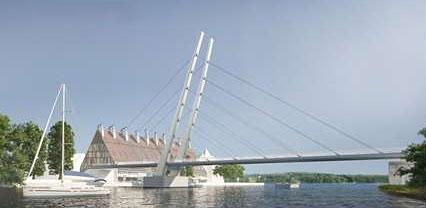 Projekt neue Fußgängerbrücke in Nikolaiken