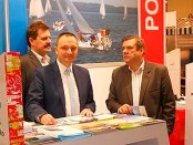 Wojciech Iwaszkiewicz (Bürgermeister von Giżycko) links und Paweł Lewandowski (Direktor - Polnisches Fremdenverkehrsamt, © Poln. Fremdenverkehrsamt