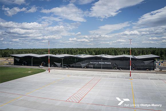 Flughafen Olsztyn-Mazury vor dem Start