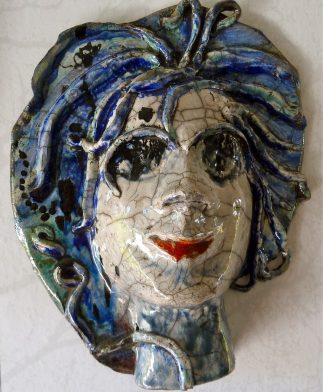 Rakuskulptur Medusa