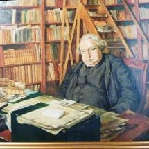 Portrait d'Ernest Renan dans son bureau