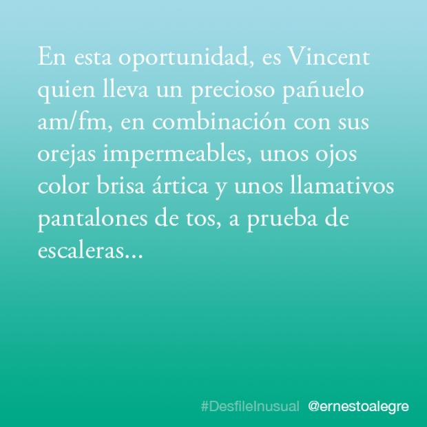 #DesfileInusual, por Ernesto Alegre