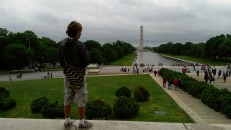 On the Lincoln Memorial