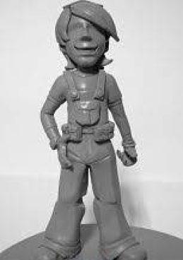 """La escultura es creación de Oscar """"KEIN"""" Cornejo para ilustrar los cuentos infantiles de Ernesto Panamá"""