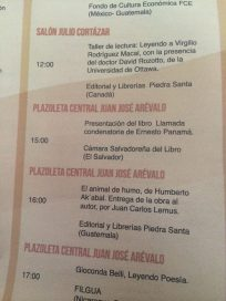 Participacion FILGUA Feria del Libro en Guatemala