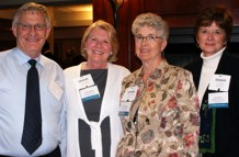 """Ernie Hardeman with Diane Hatfield, Angela Piovesan and Cheri Palmer from Big Brothers, Big Sisters of Woodstock & District"""""""